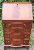 SOLD - Small Mahogany Writing Bureau by Reprodux